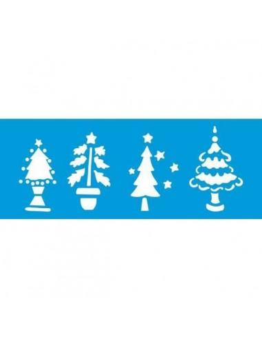 Stencil arboles navidad