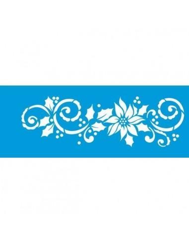 Stencil flor navideño
