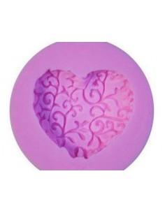 Molde silicona corazón