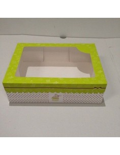 Caja 6 Cupcakes Verde