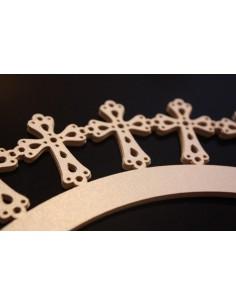 Pack 12 wrappers de cruz especial comunión