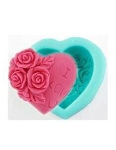 Molde Silicona Corazón I Love You
