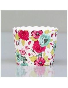 Capsulas cartón flores