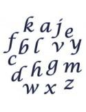 Regla Cortador Alfabeto Minúsculas Cursiva