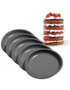 Set 5 moldes layer cake Wilton