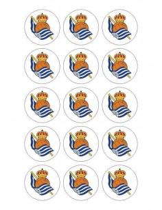 Papel de azúcar escudo Real Sociedad para galletas Nº82