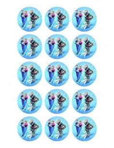 Papel de azúcar Frozen para galletas Nº97