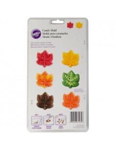 Molde chocolatinas hojas de otoño