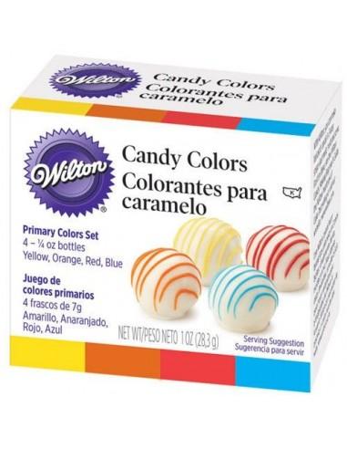 Set 4 Colorantes para Chocolate Wilton