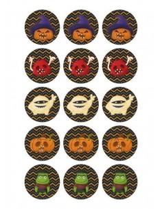 Papel de azúcar Halloween para galletas Nº111