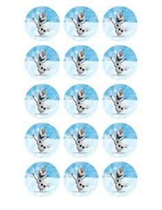 Papel de azúcar Olaf para galletas Nº113