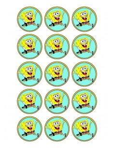 Papel de azúcar Bob Esponja para galletas