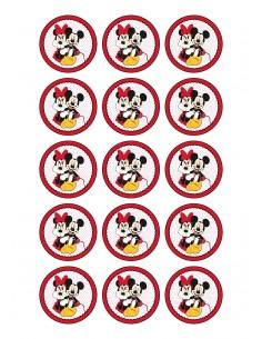 Papel de azúcar Mickey y Minnie Mouse para galletas