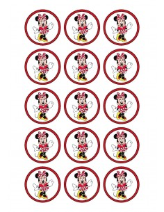Papel de azúcar Minnie Mouse para galletas
