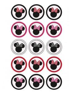 Papel de azúcar Minnie Mouse para galletas