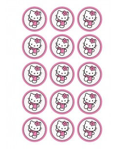 Papel de azúcar Hello Kitty para galletas