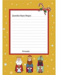Papel de azúcar carta Reyes Magos