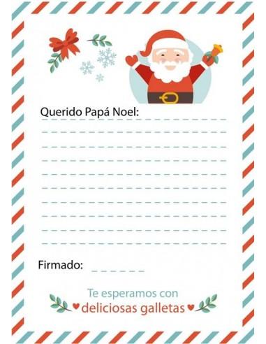 Papel de azúcar carta Santa