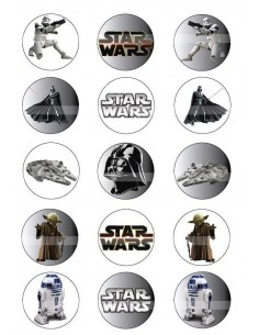 Papel de azúcar Star Wars para galletas