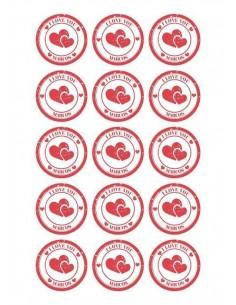 Papel de azúcar San Valentín personalizado