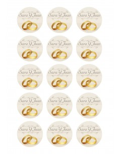 Papel de azúcar boda personalizado
