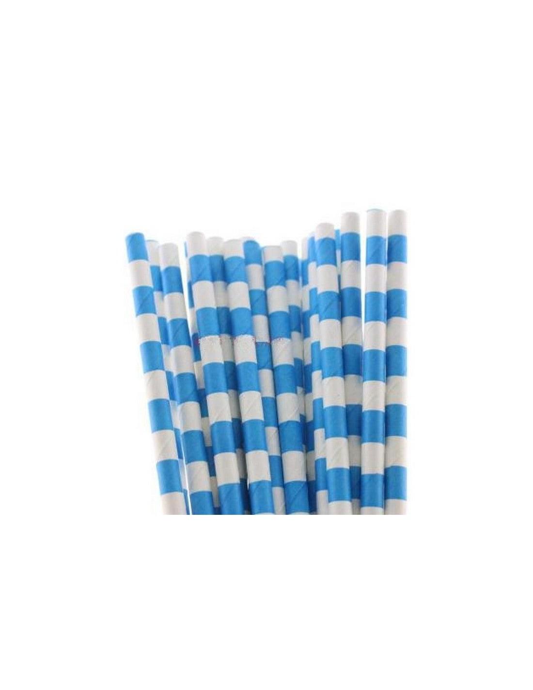 Pajitas de papel con rayas horizontales azules - Papel pintado rayas horizontales ...