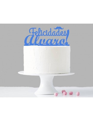 Topper cake felicidades niño personalizado