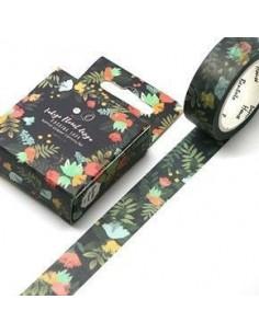 Washi tape índigo floral