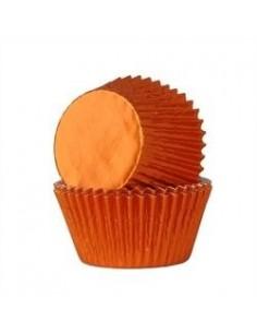 Cápsulas naranjas metalizadas