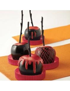 Palitos para manzanas de caramelo negros