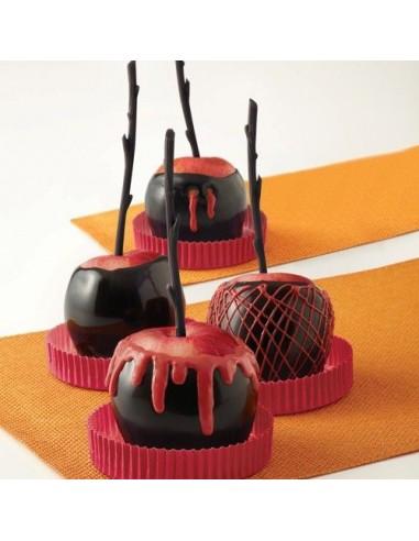 Palitos para manzanas de caramelo negro