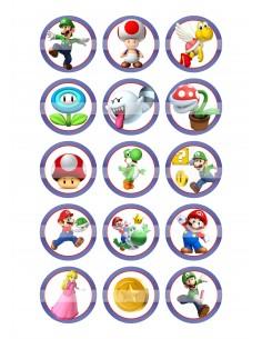 Papel de azúcar Super Mario para galletas