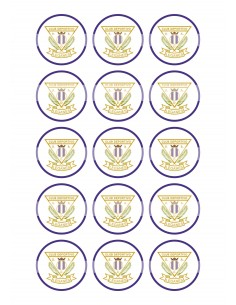Papel de azúcar escudo Leganés para galletas