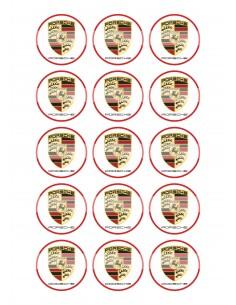 Papel de azúcar Porsche para galletas