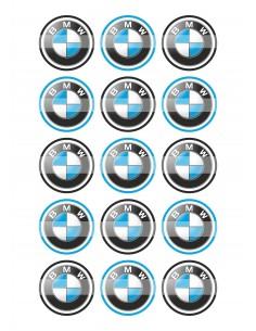 Papel de azúcar BMW para galletas