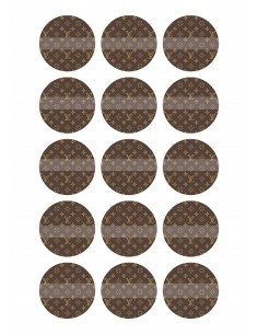 Papel de azúcar Louis Vuitton para galletas