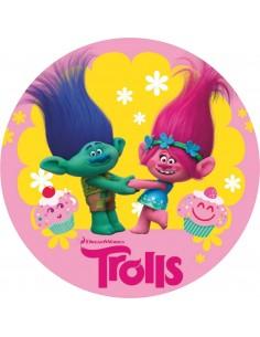 Papel de azúcar Trolls