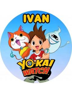 Papel de azúcar Yokai Watch