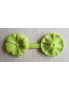 Molde de silicona doble con texturizador con forma de flor