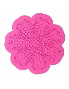 Molde encaje flor petalos