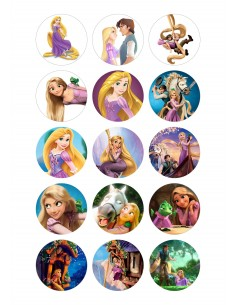 Papel de azúcar Rapunzel para galletas