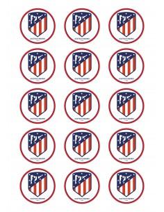 Papel de azúcar nuevo escudo Atlético de Madrid para galletas