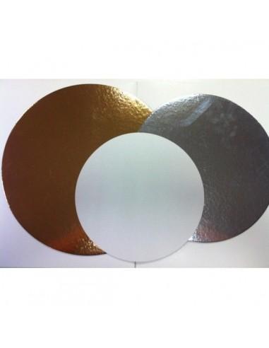 Base de Cartón Color Plata 18 cm