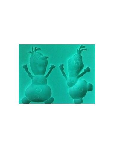 Molde silicona dos figuras Olaf