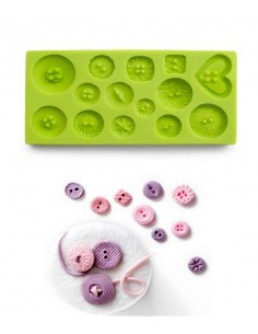 Molde silicona botones