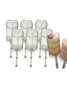 Push up cake pops Corazón 6 unidades Sweet Does It