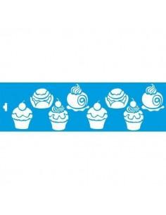 Stencil cupcakes variados