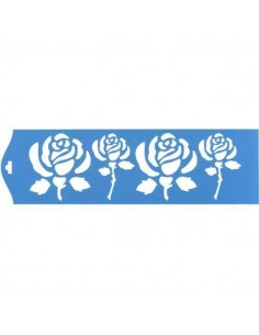 Stencil rosas