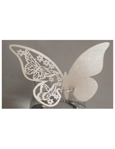 Pack 10 mariposas de papel decorativas