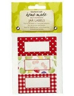 Etiquetas adhesivas rojas - Kitchen Craft